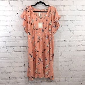 NWT A:Glow floral maternity  rayon dress Large